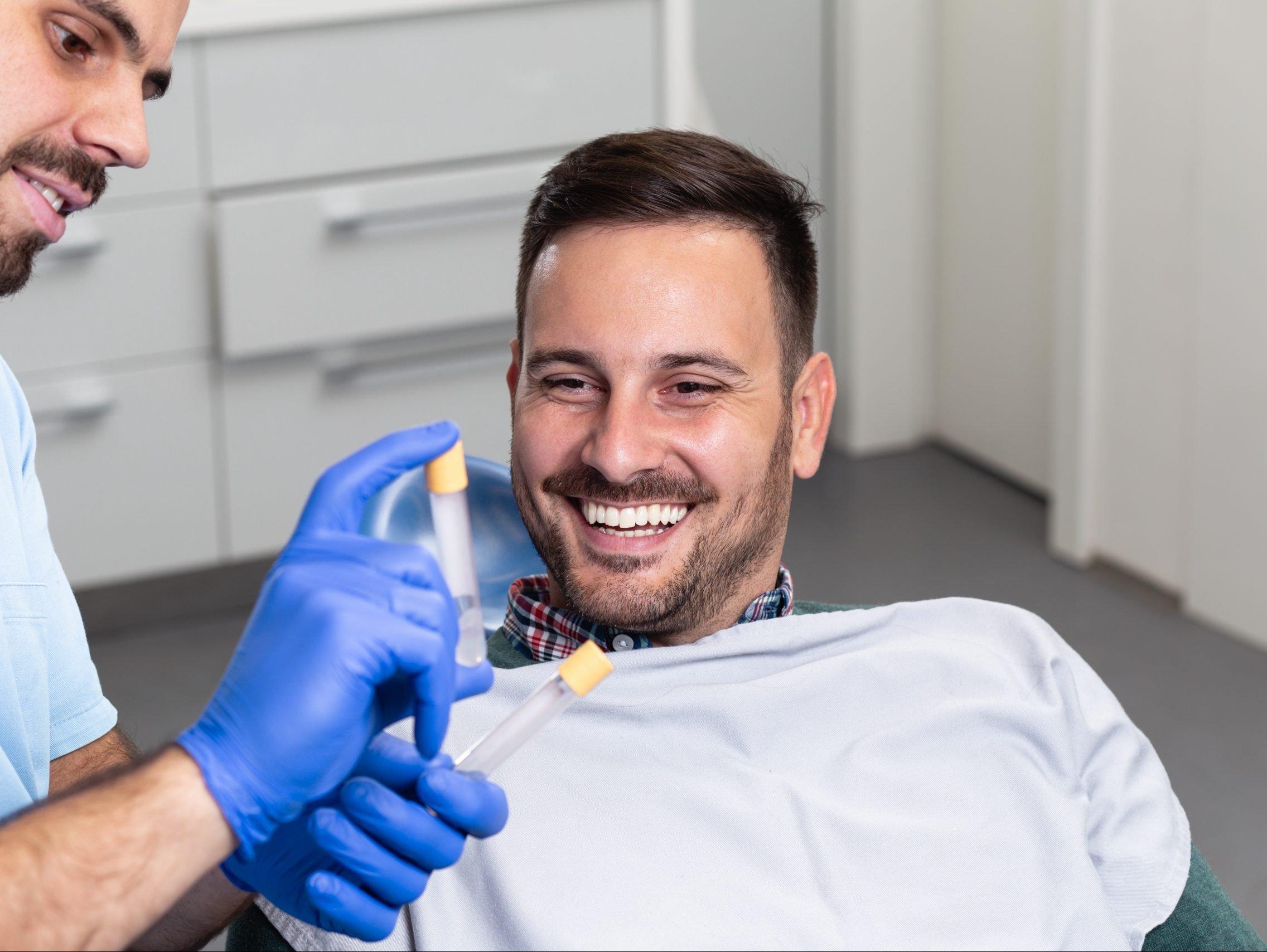 Man at beauty clinic